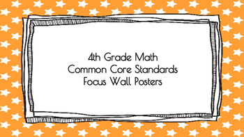 4th Grade Math Standards on Orange Star Frame