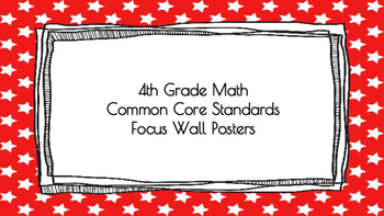 4th Grade Math Standards on Red Star Frame