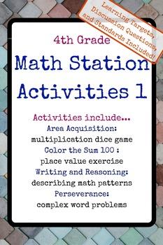 4th Grade Math Stations 1
