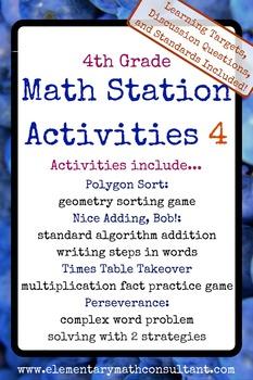 4th Grade Math Stations 4