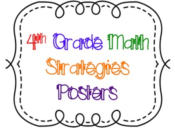 4th Grade Math Strategies Posters