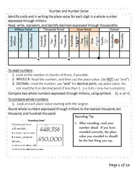Grade 4 Math Study Guide for Teachers and Parents