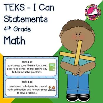 2014 4th Grade Math TEKS I Can Statements