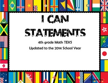 4th Grade Math TEKS I can Statements