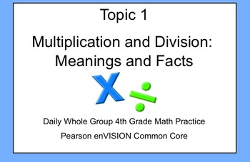 4th Grade Math: Topic 1 Guided Practice (Pearson enVISION