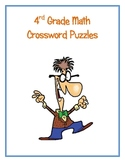 4th Grade Math Vocabulary Crossword Puzzles