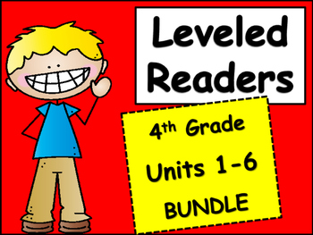 4th Grade McGraw-Hill Wonders Units 1-6 Leveled Readers