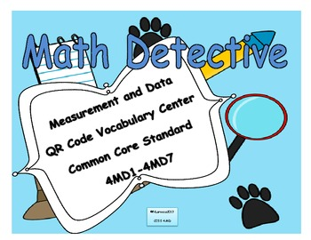 4th Grade Measurement and Data Vocabulary with QR Codes 4M