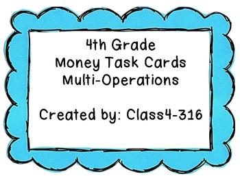 4th Grade Money Task Cards