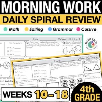 4th Grade Morning Work - 2nd 9 Weeks