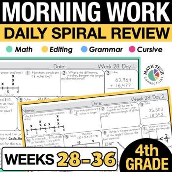 4th Grade Morning Work - 4th 9 Weeks
