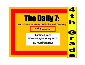 Morning Work / Warm-ups - Daily 7 Essentials for 4th Grade