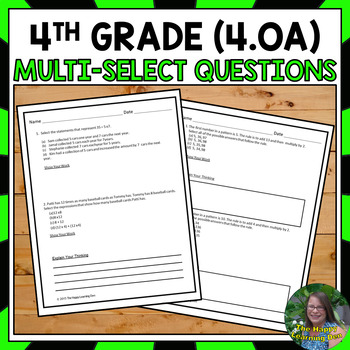 FSA Practice: Multi-Select Questions- Operations and Algeb