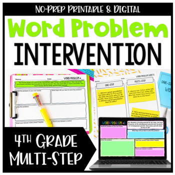 4th Grade Multi-Step Word Problems {No Prep Intervention}