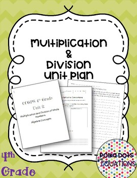 4th Grade Multiplication and Division Unit