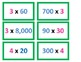 4th Grade Multiplying with Zeros Game for Common Core