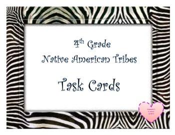 Native American Tribes ZEBRA Task Cards 4th Grade