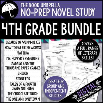 4th Grade Novel Study Bundle