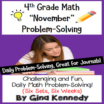 Daily Problem Solving for 4th Grade: November Word Problem