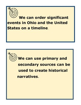 4th Grade Ohio Learning Standards- Social Studies History