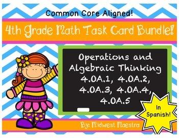 4th Grade Operations and Algebraic Thinking Task Card Bund