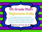 4th Grade Performance Scales-FL Math Standards
