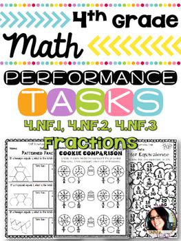 4th Grade Performance Tasks 4.NF.1, 4.NF.2, 4.NF.3 Fractio