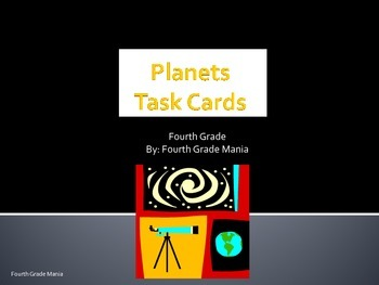 4th Grade Planet Task Cards