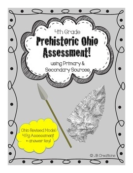 4th Grade Prehistoric Indian Test with Primary & Secondary