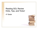 4th Grade Reading SOL Review - Hints, Tips, and Tricks!