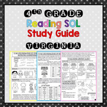 4th Grade Reading SOL Study Guide