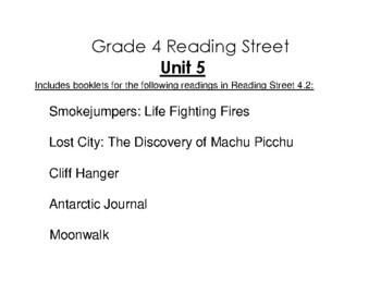 4th Grade Reading Street Activity Pack - Unit 5