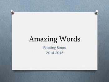 4th Grade Reading Street Amazing Words