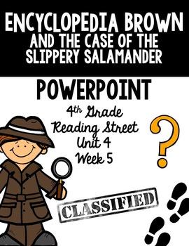 "4th Grade Reading Street ""Encyclopedia Brown"" PowerPoint P"