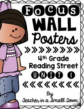 4th Grade Reading Street Unit 1 Focus Wall Posters