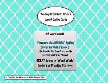 4th Grade Reading Street Unit 1 Week 5 SPELLING CARDS