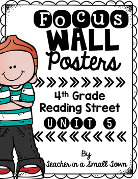 4th Grade Reading Street Unit 5 Focus Wall Posters