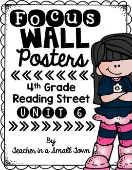 4th Grade Reading Street Unit 6 Focus Wall Poster