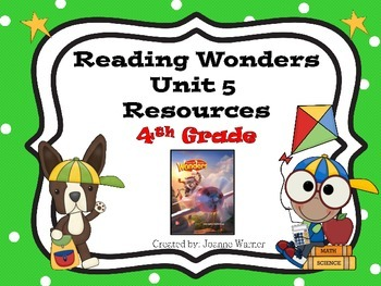 4th Grade Reading Wonders Resources Unit 5