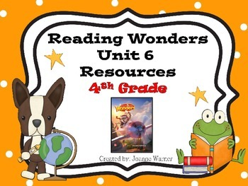 4th Grade Reading Wonders Resources Unit 6