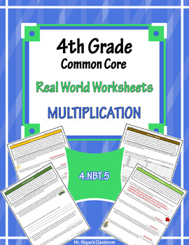4th Grade Real World Problems: Multiplication