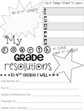 4th Grade Resolution Sheet