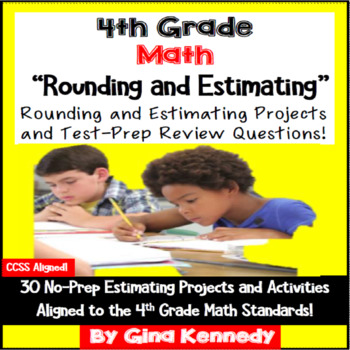 4th Grade Estimating and Rounding Enrichment Projects & Pr