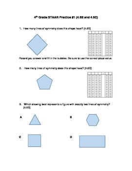 4th Grade STAAR Practice by individual TEK