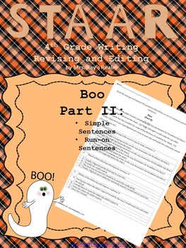 Boo Part II-STAAR Writing Revising and Editing Passage