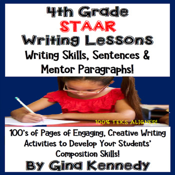 4th Grade STAAR Writing Skills Lessons & Activities, Mento