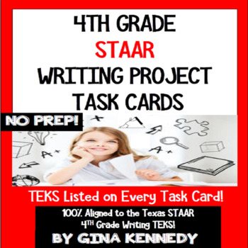 Fun, Creative 4th Grade STAAR Writing Project Task Cards