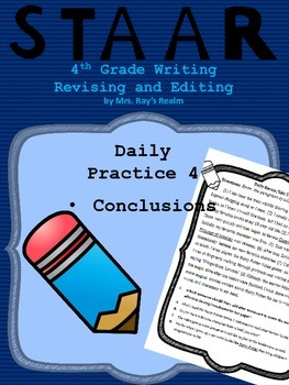 Daily Practice 4-STAAR Writing Revising and Editing