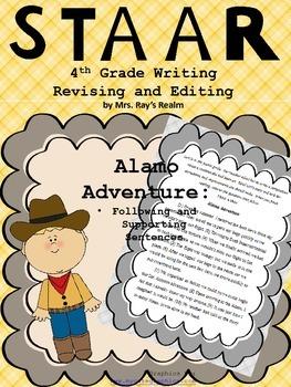 Alamo Adventure-STAAR Writing Revising and Editing Passage