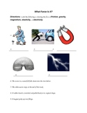4th Grade Science-Forces Worksheet
